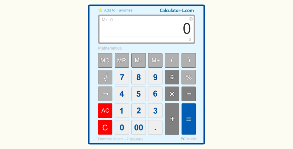 Calculadora online